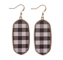 Load image into Gallery viewer, Buffalo Plaid Drop Earrings