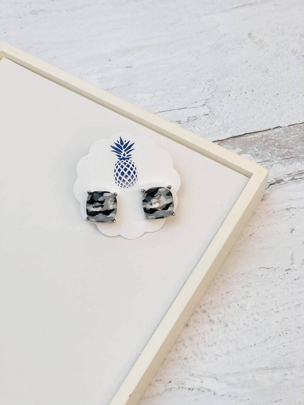 Camouflage Stud Earrings