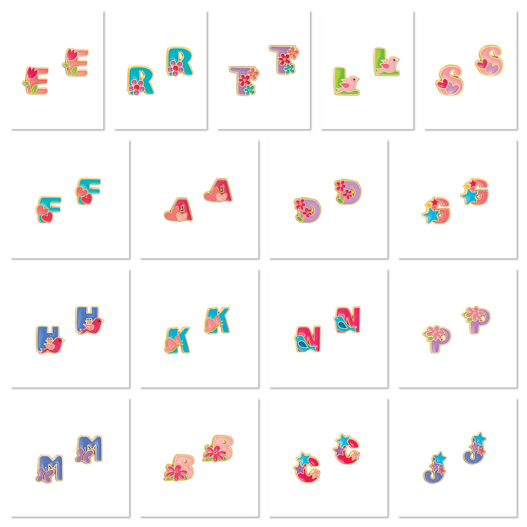 Cutie Initial Studs Collection