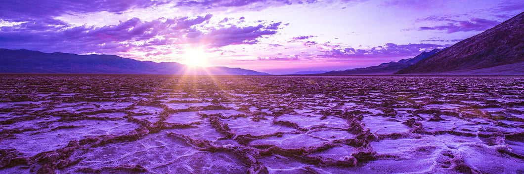 Death Valley California at sunset panoramic fineart print