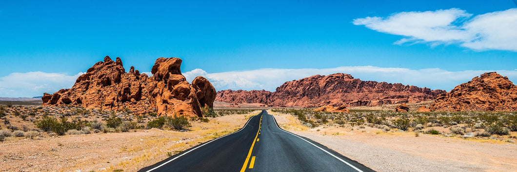 Valley of fire Nevada road panoramic fineart print