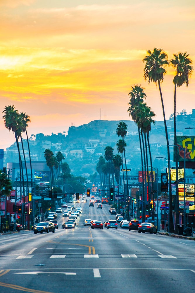 sunset strip hollywood fineart print