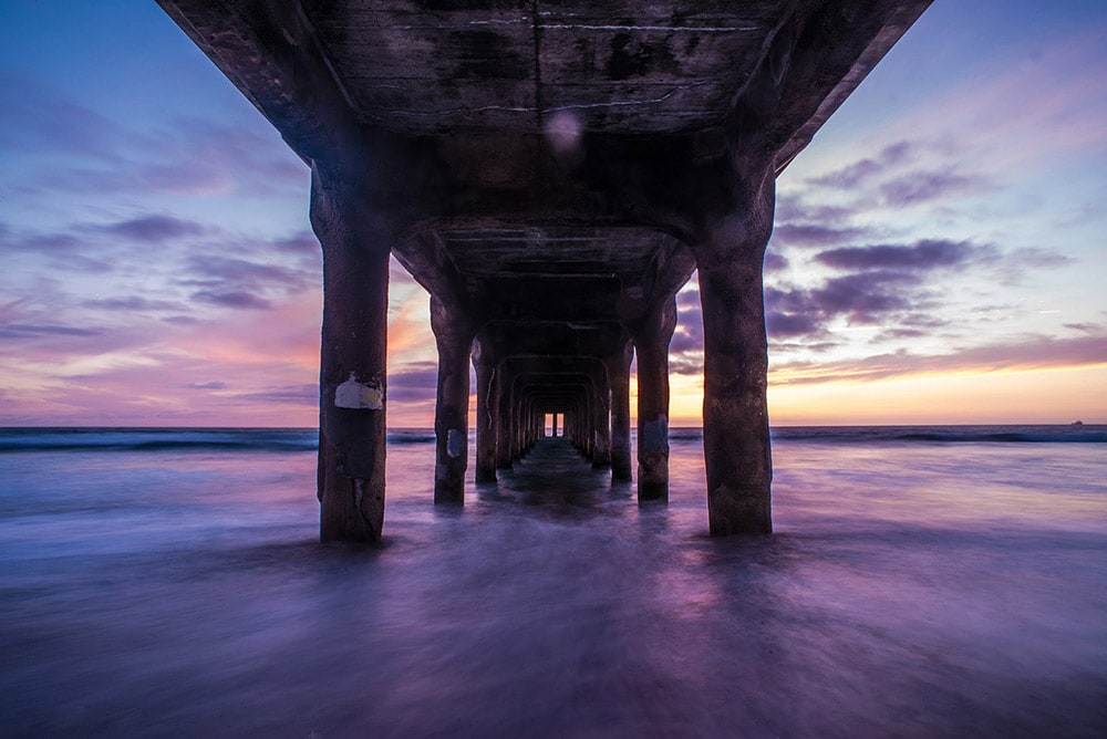 Manhattan Beach Pier California at sunset fineart print