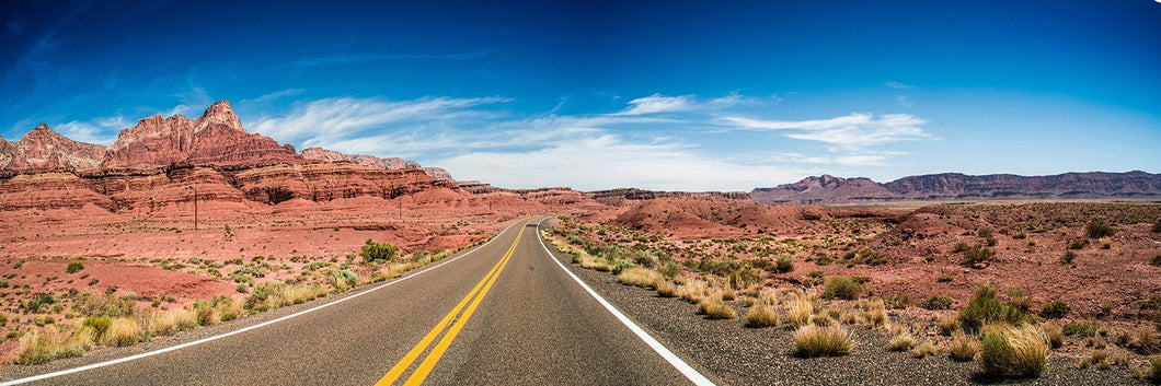 Vermilion Cliff Arizona road panoramic fineart print