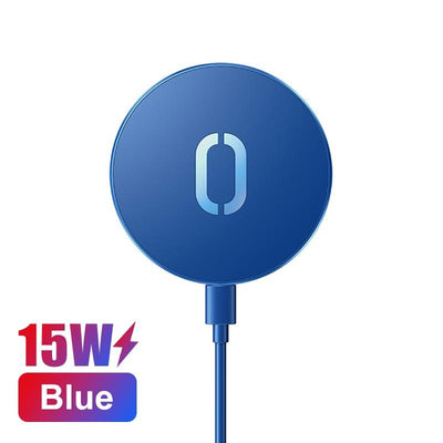 15W Quick Charger iPhone 11 12 XS X Wireless Charger Huawei Mi Qi Niesaner Blue
