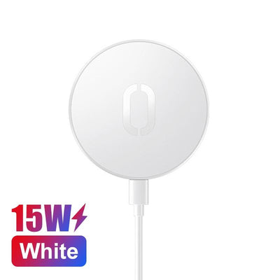 15W Quick Charger iPhone 11 12 XS X Wireless Charger Huawei Mi Qi Niesaner White