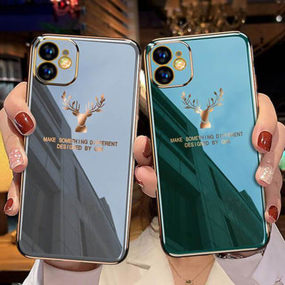 2020 Deer Pattern Camera All-inclusive Electroplating Process iPhone Case Niesaners