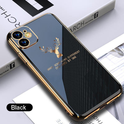 2020 Deer Pattern Camera All-inclusive Electroplating Process iPhone Case Niesaners Black iPhone 11 Pro Max