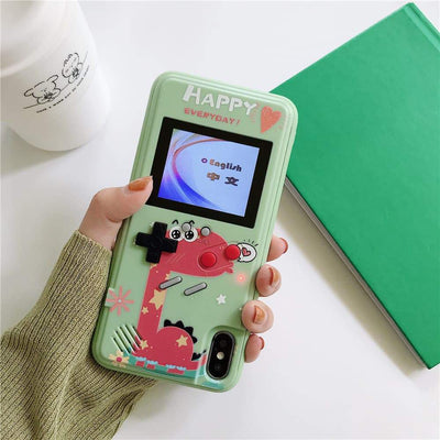 Color screen game iPhone case Niesaners iPhone 6/6s/7/8(4.7) Green Case-Dinosaur