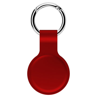 For Apple Airtags Liquid Silicone Protective Sleeve For Apple Locator Tracker Anti-lost Device Keychain Protective Sleeve Hot Niesaner Red