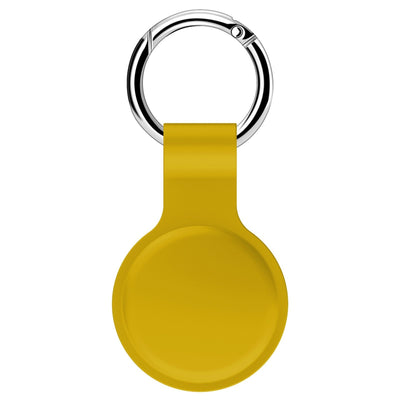 For Apple Airtags Liquid Silicone Protective Sleeve For Apple Locator Tracker Anti-lost Device Keychain Protective Sleeve Hot Niesaner Yellow