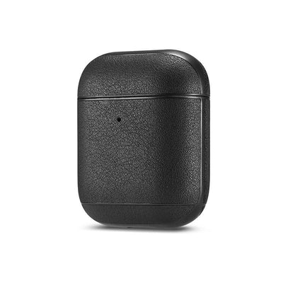 Genuine leather colourful AirPods Case Niesaner shop Black