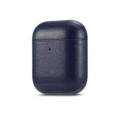 Genuine leather colourful AirPods Case Niesaner shop Blue