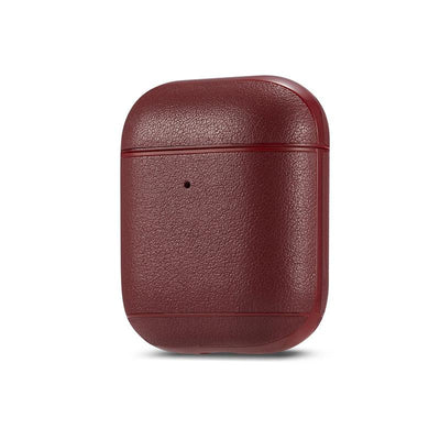 Genuine leather colourful AirPods Case Niesaner shop Dark Brown