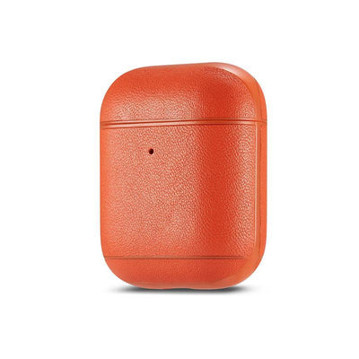 Genuine leather colourful AirPods Case Niesaner shop Orange
