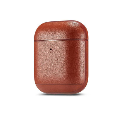 Genuine leather colourful AirPods Case Niesaner shop Tan