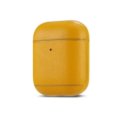 Genuine leather colourful AirPods Case Niesaner shop Yellow