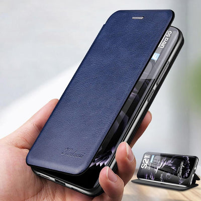 Leather Case For Samsung Galaxy S21 Plus Ultra S21Plus S21Ultra Samsungs21 Cases Wallet Flip Stand Cover Mobile Phone Bag Shell Niesaner
