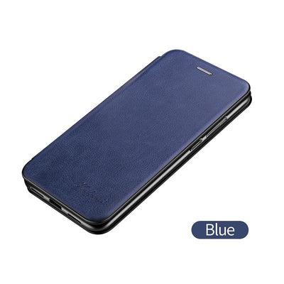 Leather Case For Samsung Galaxy S21 Plus Ultra S21Plus S21Ultra Samsungs21 Cases Wallet Flip Stand Cover Mobile Phone Bag Shell Niesaner S21 Blue