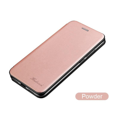 Leather Case For Samsung Galaxy S21 Plus Ultra S21Plus S21Ultra Samsungs21 Cases Wallet Flip Stand Cover Mobile Phone Bag Shell Niesaner S21 Pink