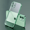 Luxury Plating Square Frame Transparent Case For iPhone Niesaner for iphone SE 2020 Dark green