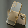 Luxury Plating Square Frame Transparent Case For iPhone Niesaner for iphone SE 2020 Gold