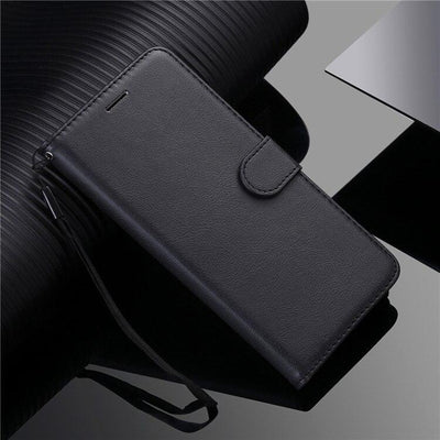 Luxury Simplicity Leather Wallet Case For LG G7 G8S ThinQ G9 Q6 V20 V30 V40 V50 V60 W30 Stylo 4 5 6 X Power 2 3 Flip Stand Cover Niesaner For LG Stylo 4 Black