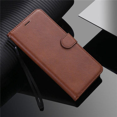 Luxury Simplicity Leather Wallet Case For LG G7 G8S ThinQ G9 Q6 V20 V30 V40 V50 V60 W30 Stylo 4 5 6 X Power 2 3 Flip Stand Cover Niesaner For LG Stylo 4 Brown