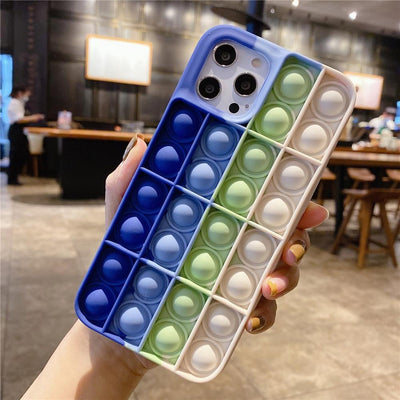 Niesaner Phone Case For Apple's full range Silicone Cover relieve stress Push It Phone Case Niesaner iPhone 7 8 FS-8