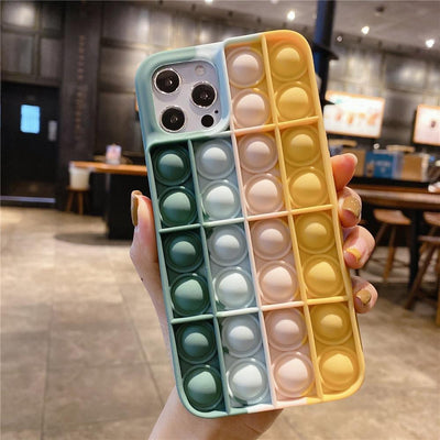 Niesaner Phone Case For Apple's full range Silicone Cover relieve stress Push It Phone Case Niesaner iPhone 7 8 FS-81
