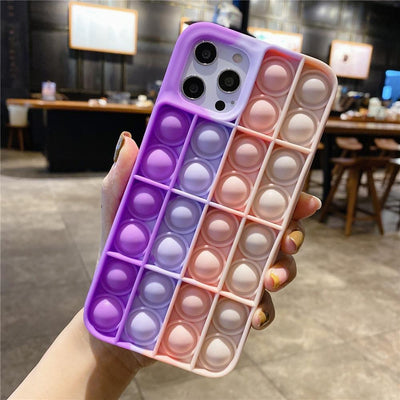 Niesaner Phone Case For Apple's full range Silicone Cover relieve stress Push It Phone Case Niesaner iPhone 7 8 FS-84