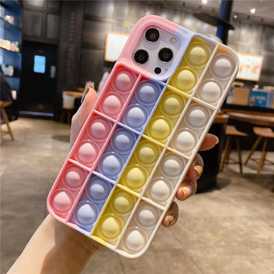 Niesaner Phone Case For Apple's full range Silicone Cover relieve stress Push It Phone Case Niesaner iPhone 7 8 FS-85