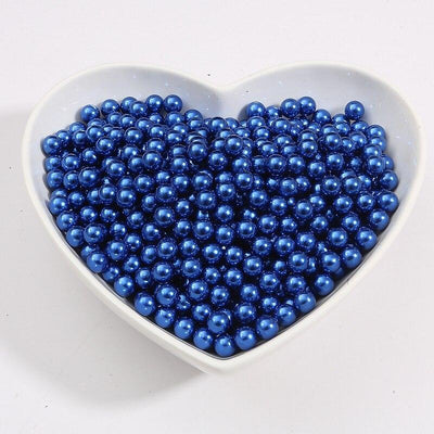 Round Multi Color No Hole Acrylic Imitation pearl beads Loose beads For DIY Scrapbook Decoration Crafts Making Niesaner Blue 1000pcs 3mm