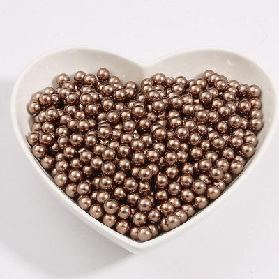 Round Multi Color No Hole Acrylic Imitation pearl beads Loose beads For DIY Scrapbook Decoration Crafts Making Niesaner Brown 1000pcs 3mm