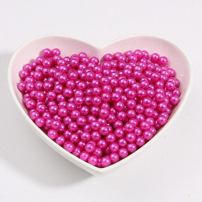 Round Multi Color No Hole Acrylic Imitation pearl beads Loose beads For DIY Scrapbook Decoration Crafts Making Niesaner Fuchsia 1000pcs 3mm