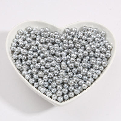 Round Multi Color No Hole Acrylic Imitation pearl beads Loose beads For DIY Scrapbook Decoration Crafts Making Niesaner Gray 1000pcs 3mm