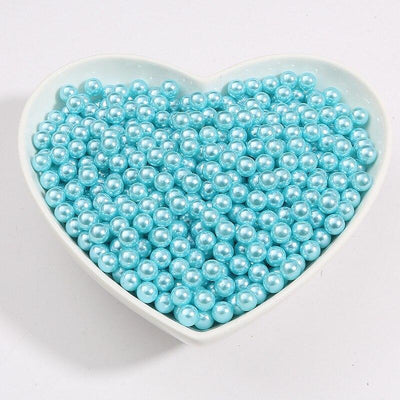 Round Multi Color No Hole Acrylic Imitation pearl beads Loose beads For DIY Scrapbook Decoration Crafts Making Niesaner Light Blue 1000pcs 3mm