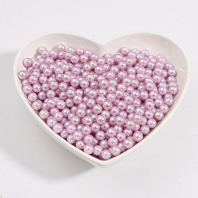 Round Multi Color No Hole Acrylic Imitation pearl beads Loose beads For DIY Scrapbook Decoration Crafts Making Niesaner Light Purple 1000pcs 3mm