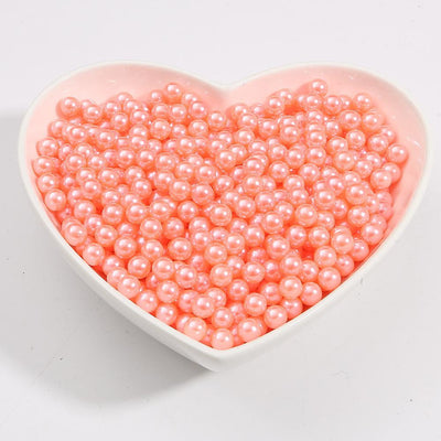 Round Multi Color No Hole Acrylic Imitation pearl beads Loose beads For DIY Scrapbook Decoration Crafts Making Niesaner Orange Pink 1000pcs 3mm