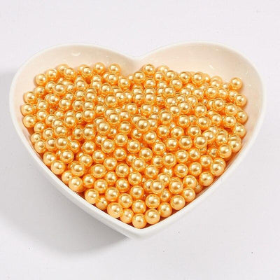 Round Multi Color No Hole Acrylic Imitation pearl beads Loose beads For DIY Scrapbook Decoration Crafts Making Niesaner Orange Yellow 1000pcs 3mm