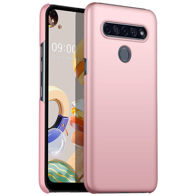 Ultra Slim Smooth Touch Silicone Case For LG Velvet Stylo 6 K61 V60 Ultra Thin Simple for LG phone case Velvet Stylo 6 K61 V60 Niesaner For LG V60 Pink LG phonecase