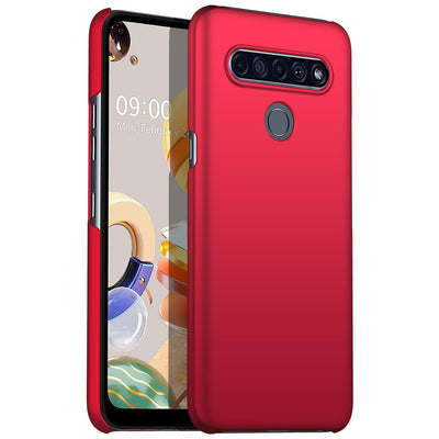 Ultra Slim Smooth Touch Silicone Case For LG Velvet Stylo 6 K61 V60 Ultra Thin Simple for LG phone case Velvet Stylo 6 K61 V60 Niesaner For LG V60 Red LG phonecase