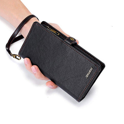 Wallet Handbag Leather Phone Case For Samsung Galaxy Niesaner Samsung S8 Black
