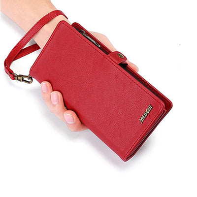 Wallet Handbag Leather Phone Case For Samsung Galaxy Niesaner Samsung S8 Red