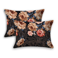 Sun Flower Chocolate Brown Color Pillow cover