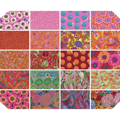 PRE-ORDER (AUGUST 2021): Kaffe Fassett - Collective - FQ Bundle - Bright