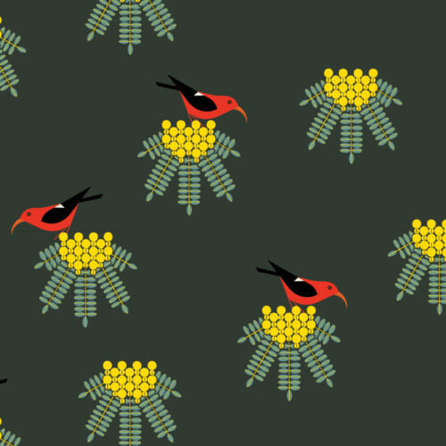 PRE-ORDER (MAY 2021): Charley Harper - Hawaiian Volcanoes - I'Iwi Green