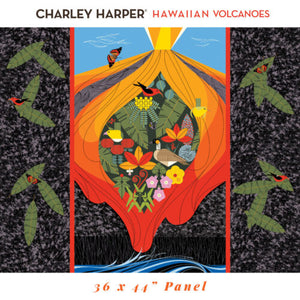 PRE-ORDER (MAY 2021): Charley Harper - Hawaiian Volcanoes - Panel Poplin