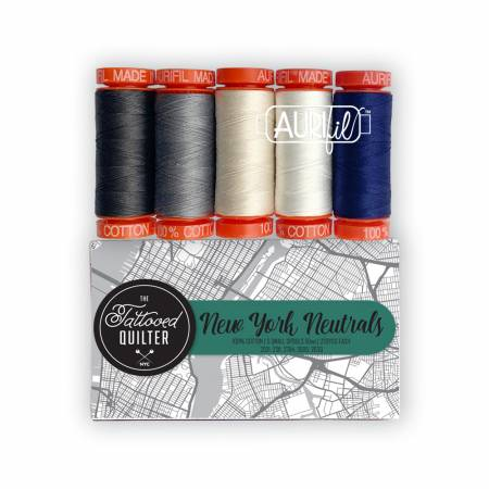 The Tattooed Quilter - New York Neutrals Aurifil Collection