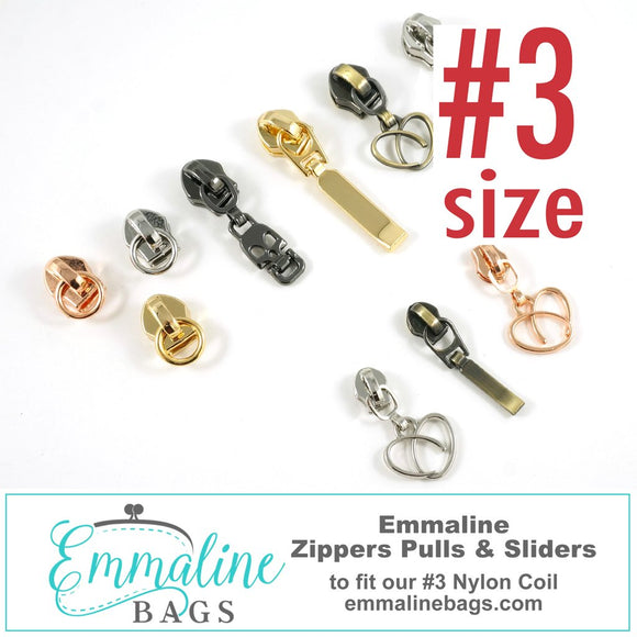 Emmaline Zipper Sliders with Pulls - SIZE #3